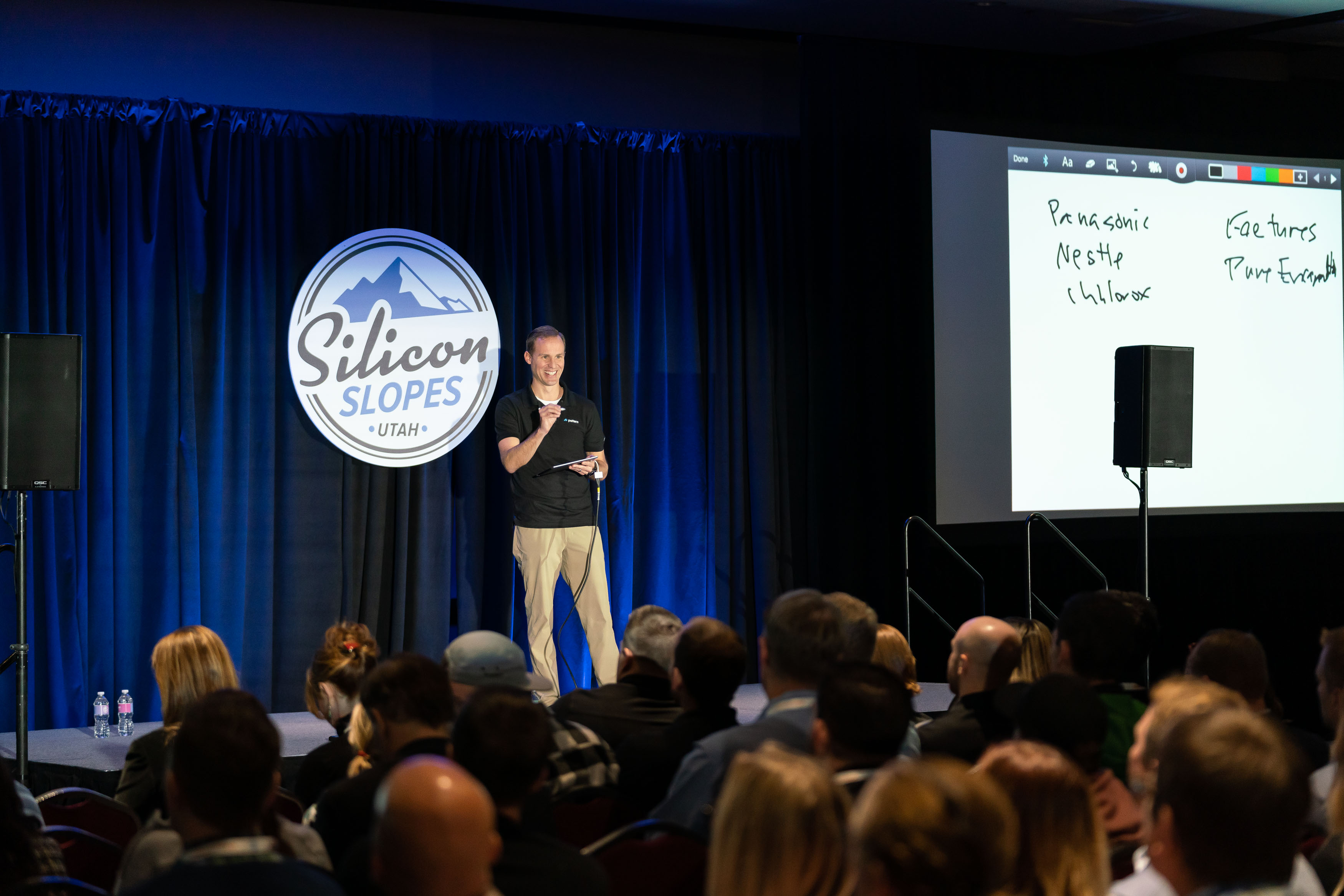 Dave Wright speaking at Silicon Slopes Tech Summit about global ecommerce for Pattern.