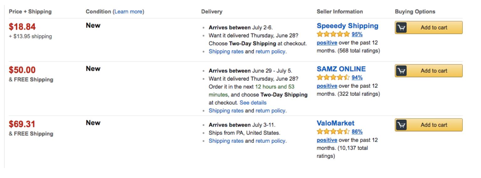 amazon buybox offerings