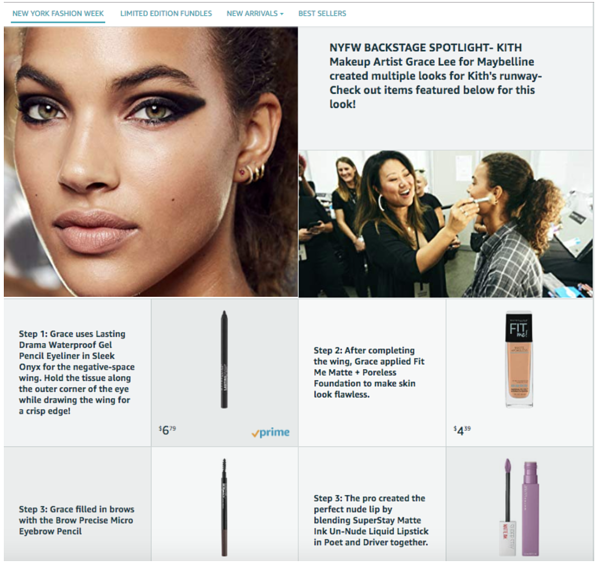 Amazon Marquee Maybelline