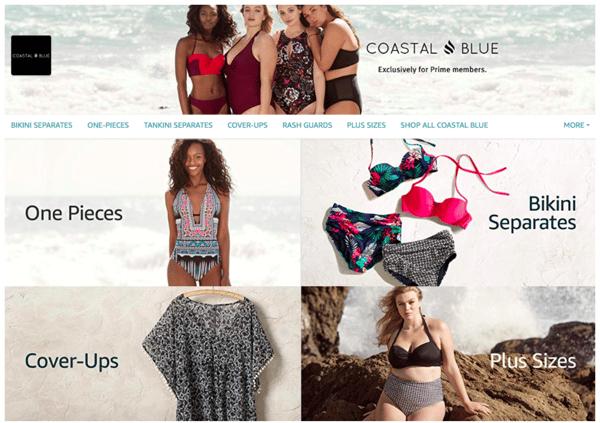 Amazon Store Highlight Costal Blue