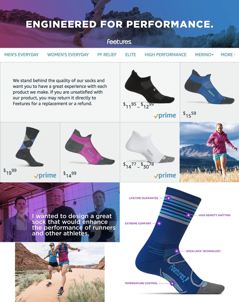 Feetures Amazon Store
