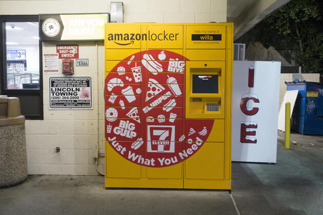Buying ad space on Amazon lockers can help push customers to go to Amazon product pages.