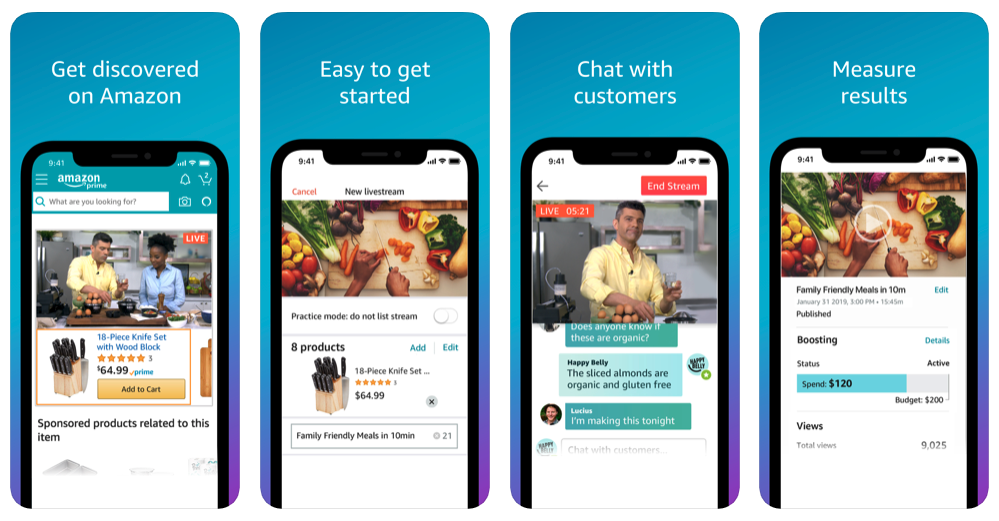 To create an Amazon Livestream, sellers have to download the Amazon Live Creator mobile application on an iOS device. They can then create live video campaigns to promote their products and increase sales.